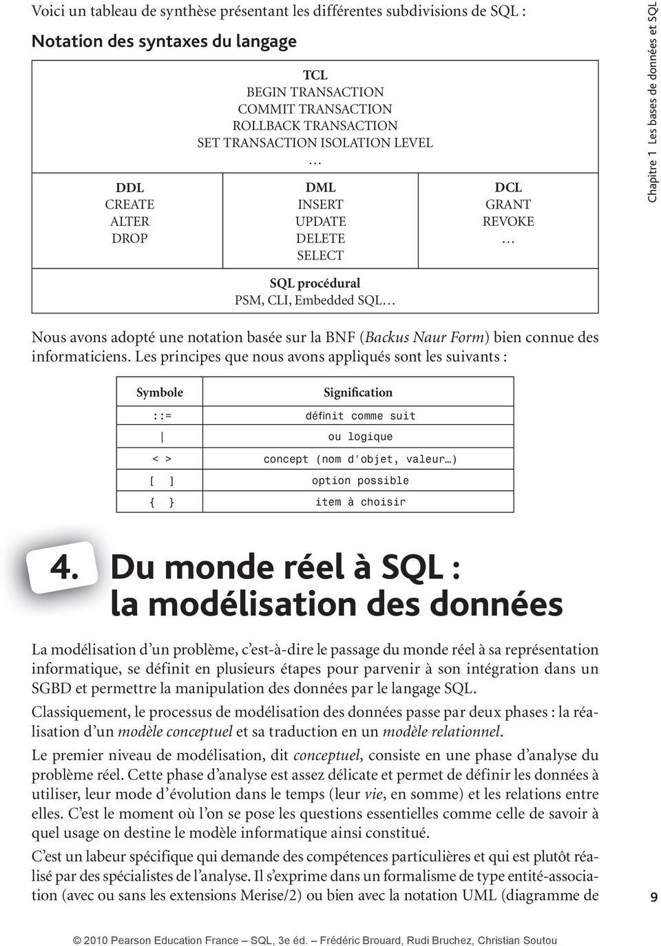 BNF (Backus Naur Form ) bien connue des informaticiens.