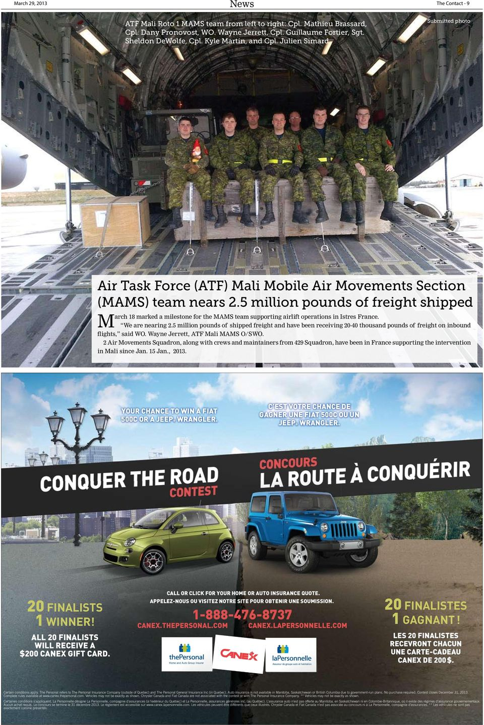 5 million pounds of freight shipped March 18 marked a milestone for the MAMS team supporting airlift operations in Istres France. We are nearing 2.