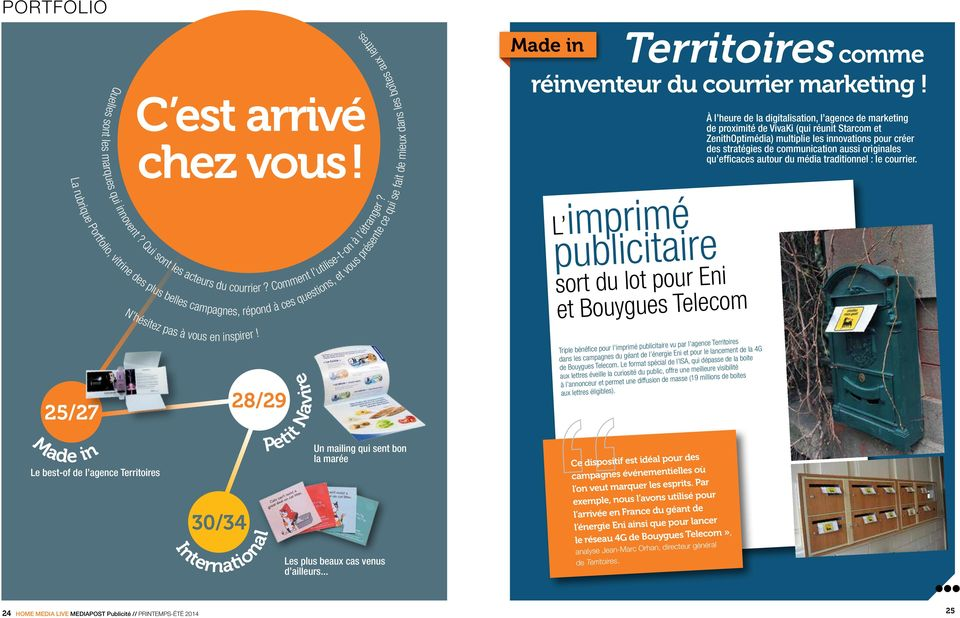 Territoires comme réinventeur du courrier marketing!