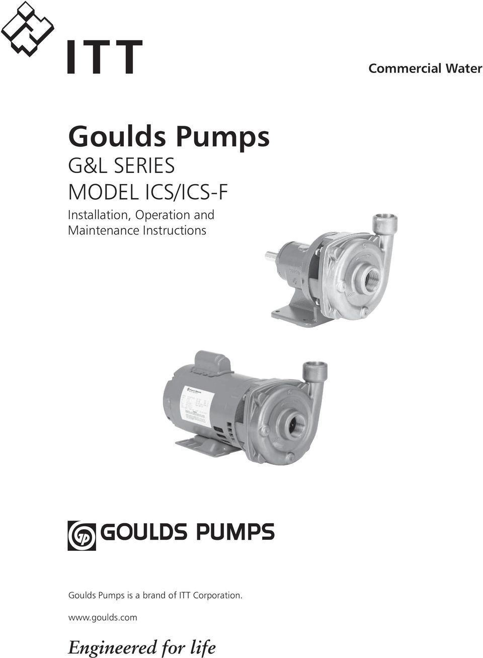 Maintenance Instructions Goulds Pumps is a