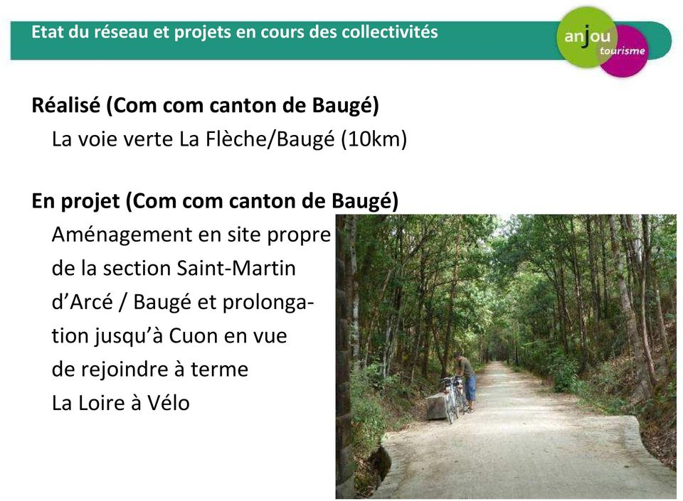 comcanton de Baugé) Aménagement en site propre de la section Saint-Martin