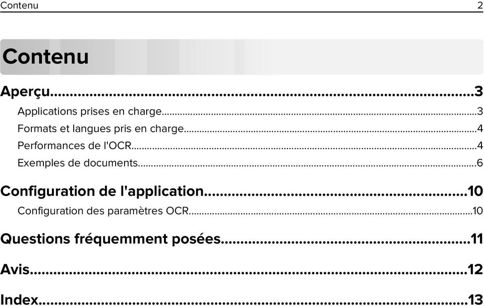 ..4 Exemples de documents...6 Configuration de l'application.