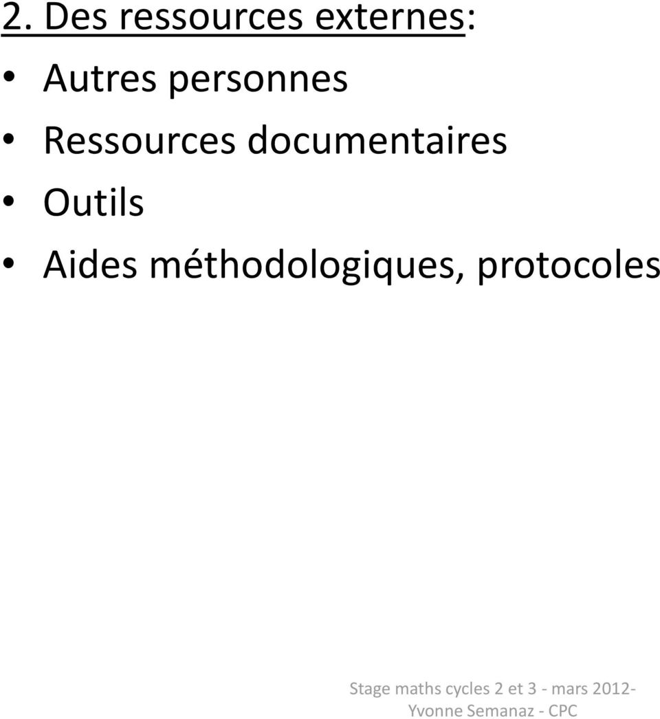 documentaires Outils Aides