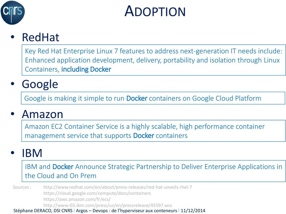 container management service that supports Docker containers IBM and Docker Announce Strategic Partnership to Deliver Enterprise Applications in the Cloud and On Prem Sources : http://www.