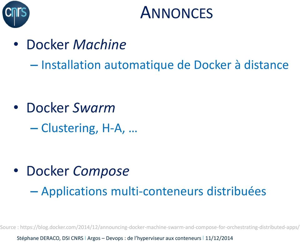 multi-conteneurs distribuées Source : https://blog.docker.