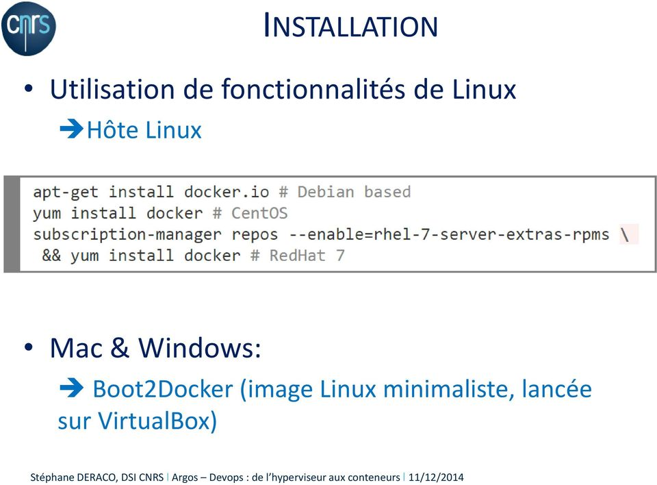Linux Mac & Windows: Boot2Docker