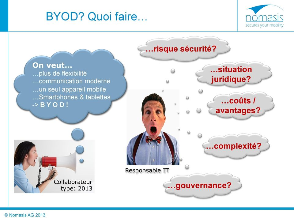 appareil mobile Smartphones & tablettes -> B Y O D!