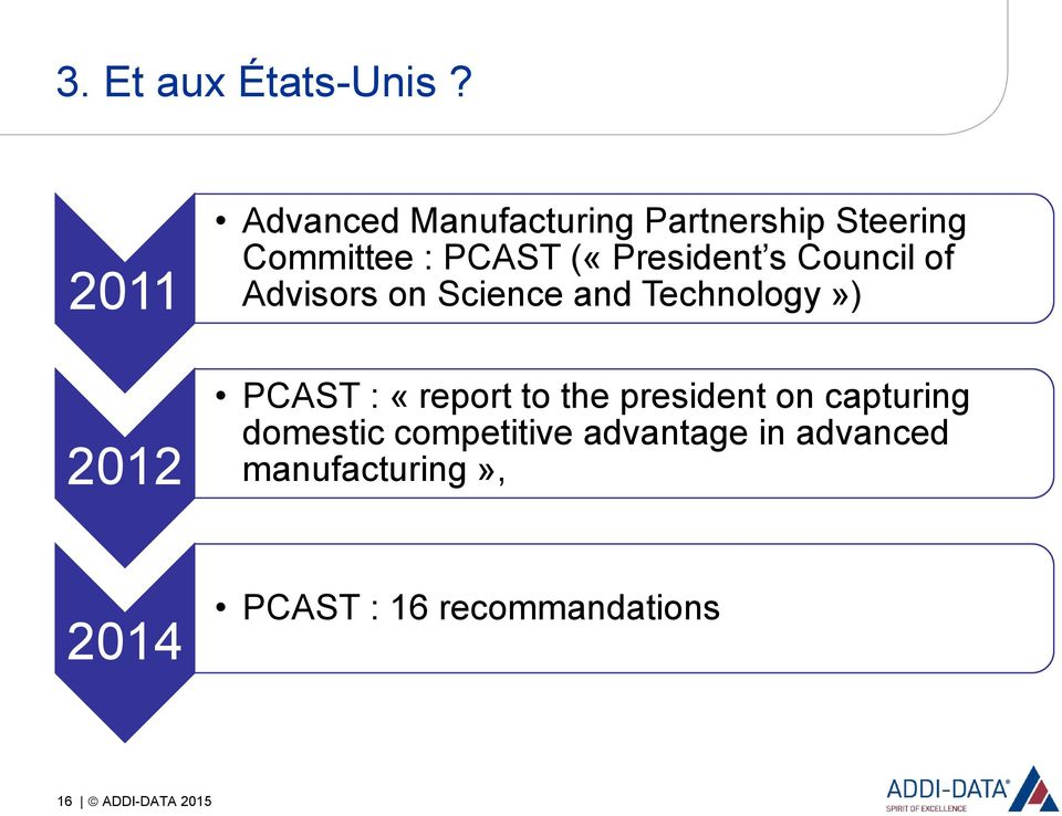(«President s Council of Advisors on Science and Technology») PCAST : «report