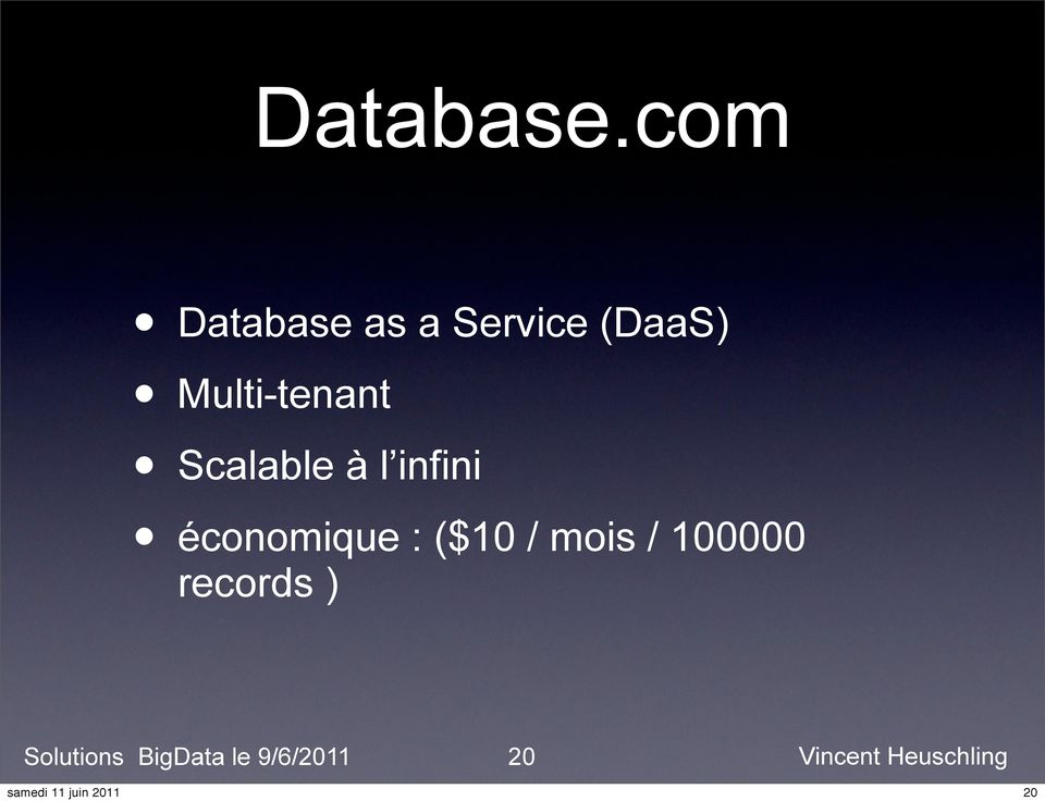 (DaaS) Multi-tenant Scalable à