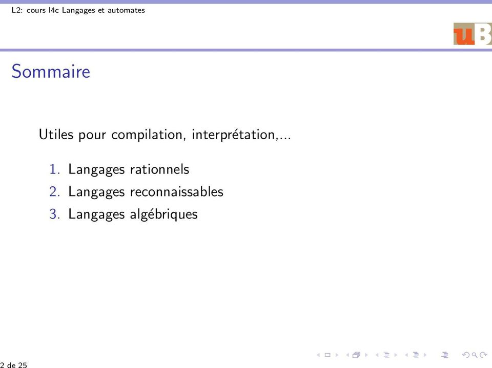 Langages rationnels 2.