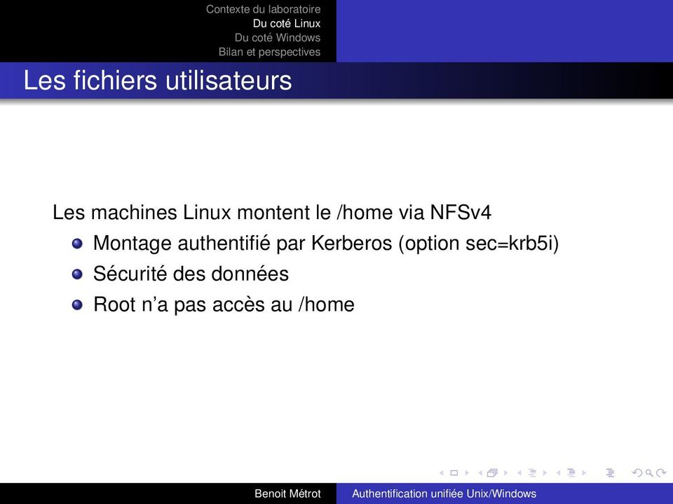 authentifié par Kerberos (option