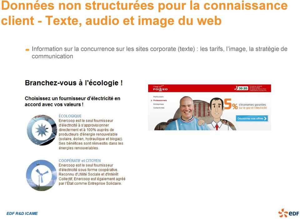 sur la concurrence sur les sites corporate