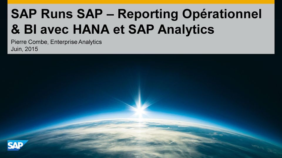 et SAP Analytics Pierre