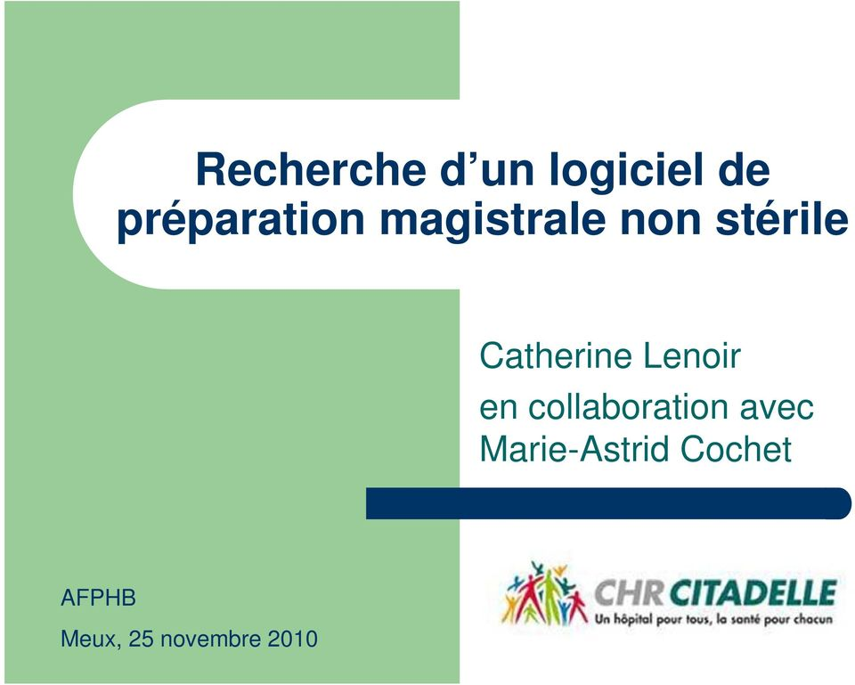 Catherine Lenoir en collaboration
