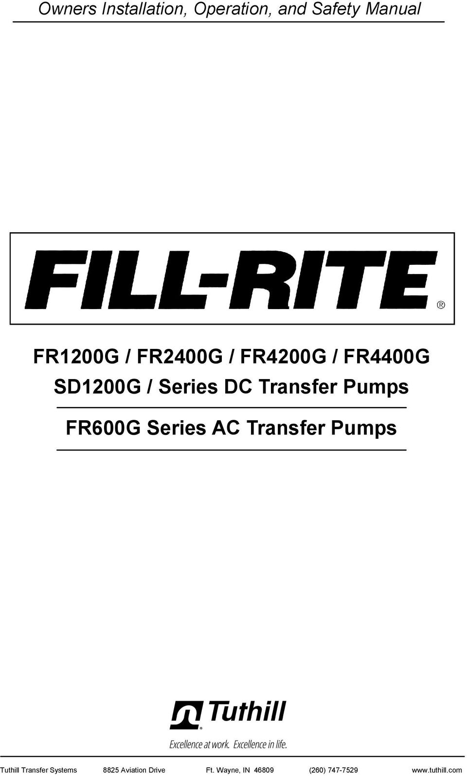 FR600G Series AC Transfer Pumps 1 Tuthill Transfer Systems