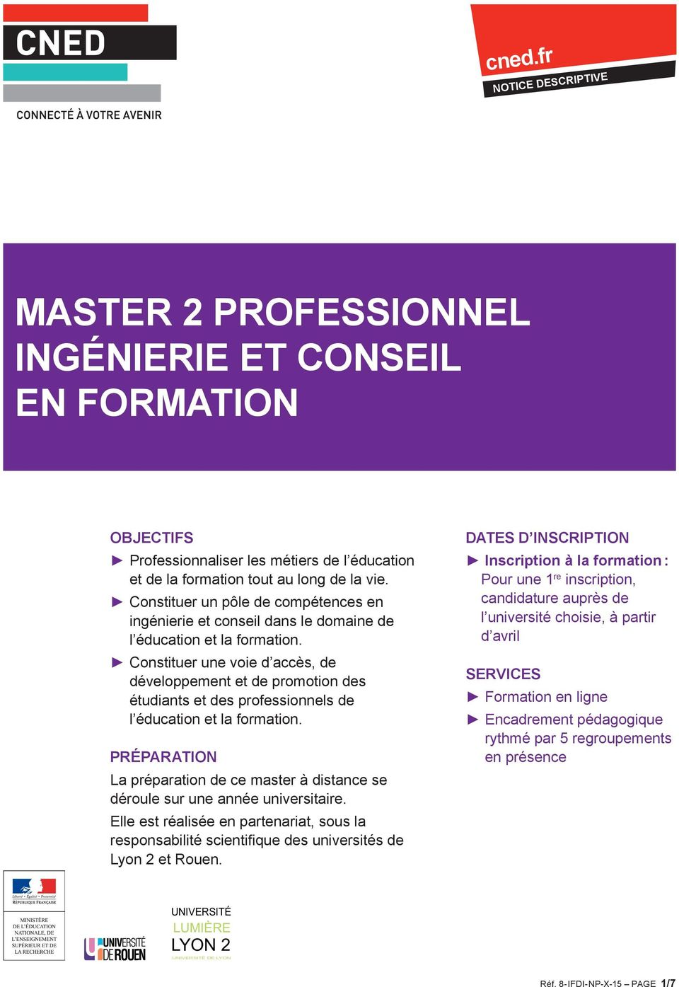 formation a distance master 2 psychologie