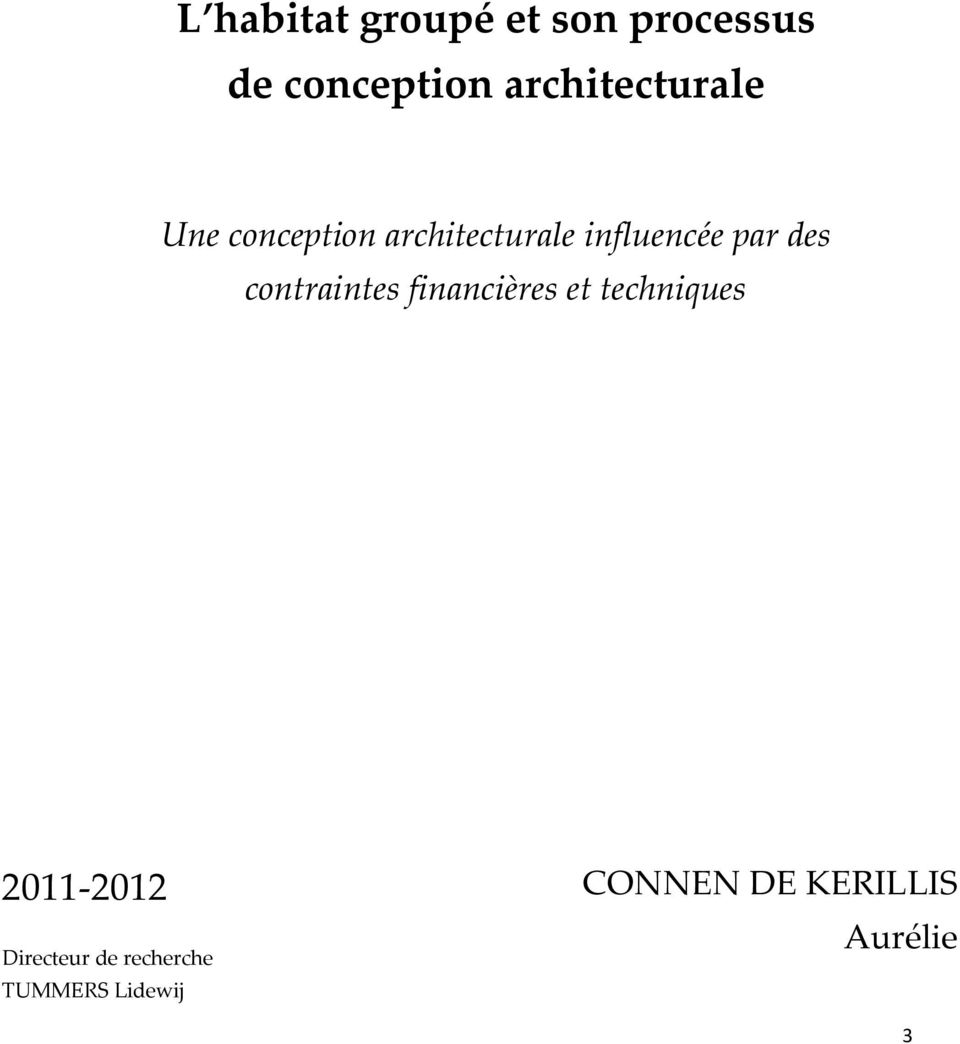 Processus de conception architecturale pdf for Conception architecturale
