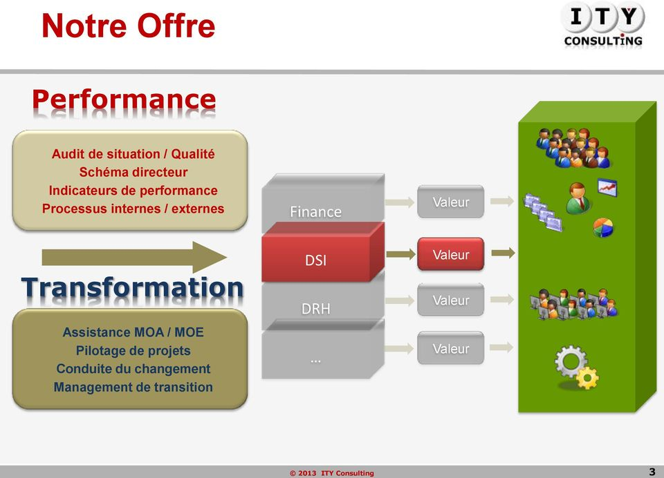 Finance Valeur Transformation Assistance MOA / MOE Pilotage de