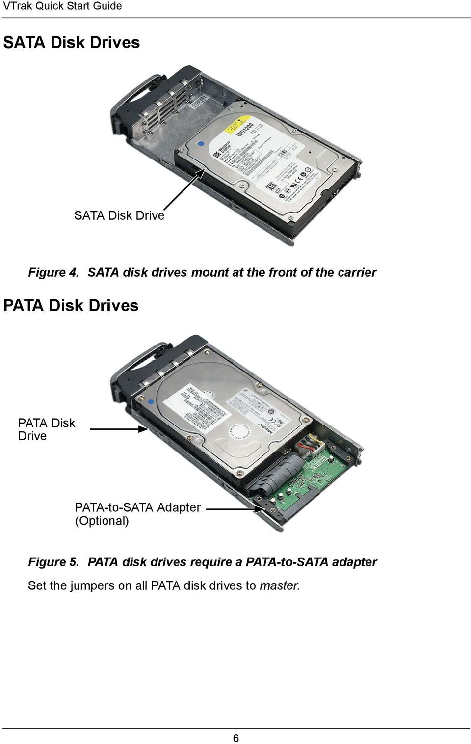 Disk Drive PATA-to-SATA Adapter (Optional) Figure 5.