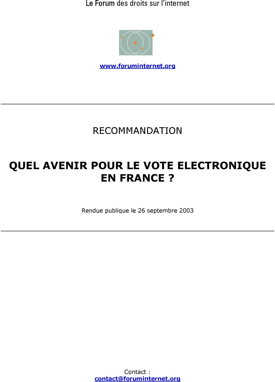 VOTE ELECTRONIQUE EN FRANCE?