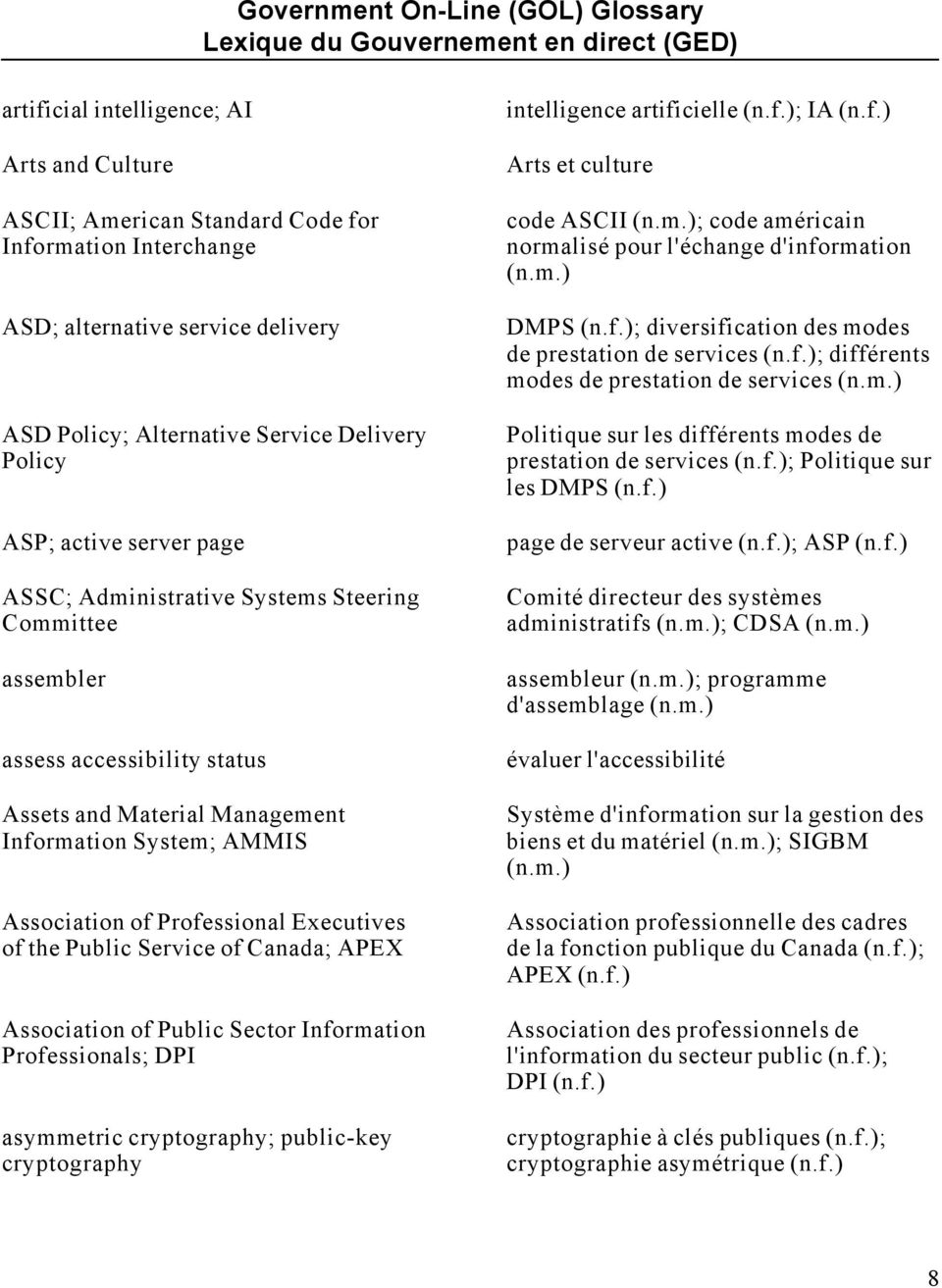 AMMIS Association of Professional Executives of the Public Service of Canada; APEX Association of Public Sector Information Professionals; DPI asymmetric cryptography; public-key cryptography