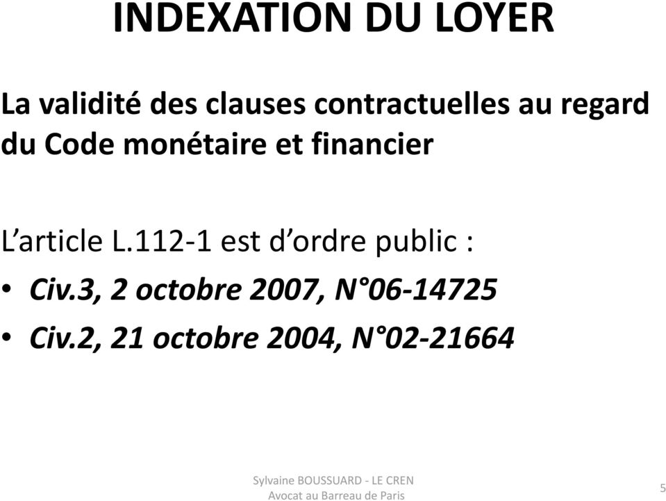 financier L article L.