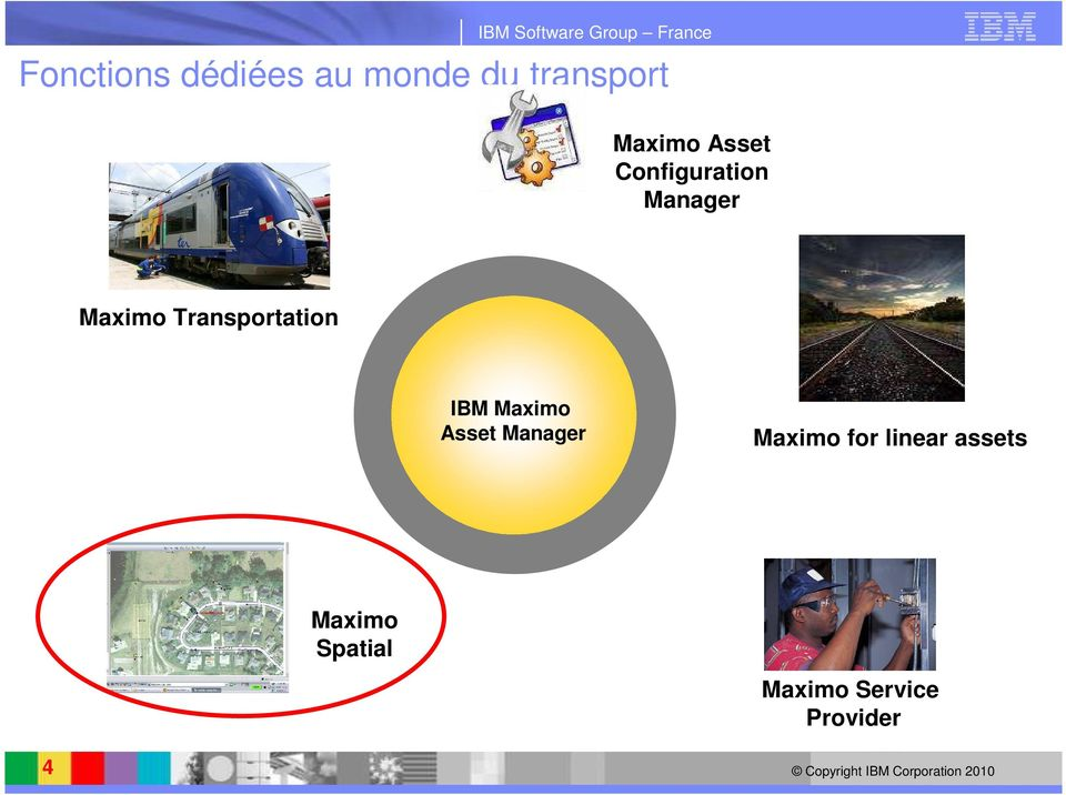 Transportation IBM Maximo Asset Manager Maximo