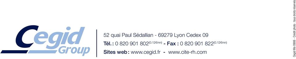 12 mn) Sites web : www.cegid.fr - www.cite-rh.
