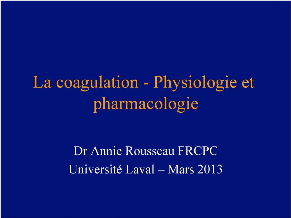 pharmacologie Dr Annie