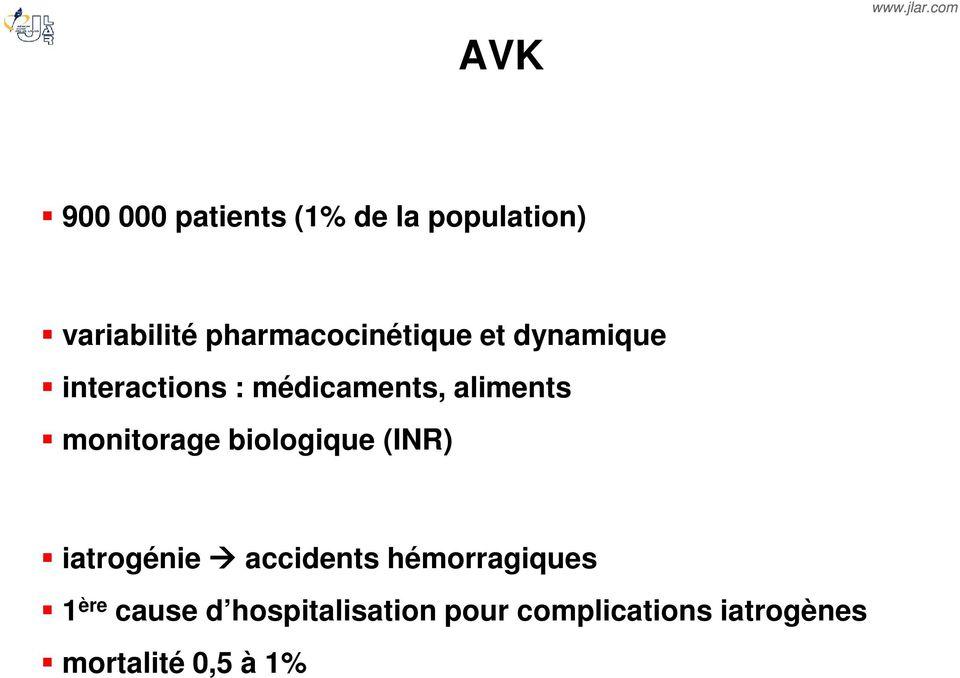 aliments monitorage biologique (INR) iatrogénie accidents
