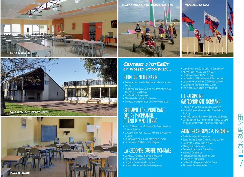 Accueils de groupes classes de decouvertes voyages for Carpiquet piscine
