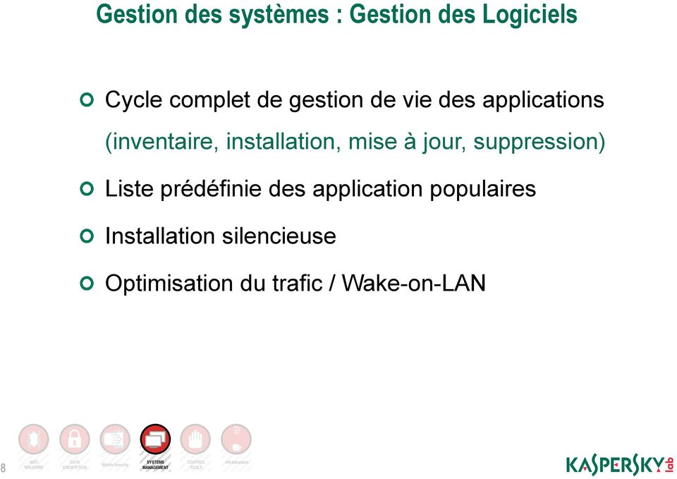 application populaires Installation silencieuse Optimisation du trafic / Wake-on-LAN 8