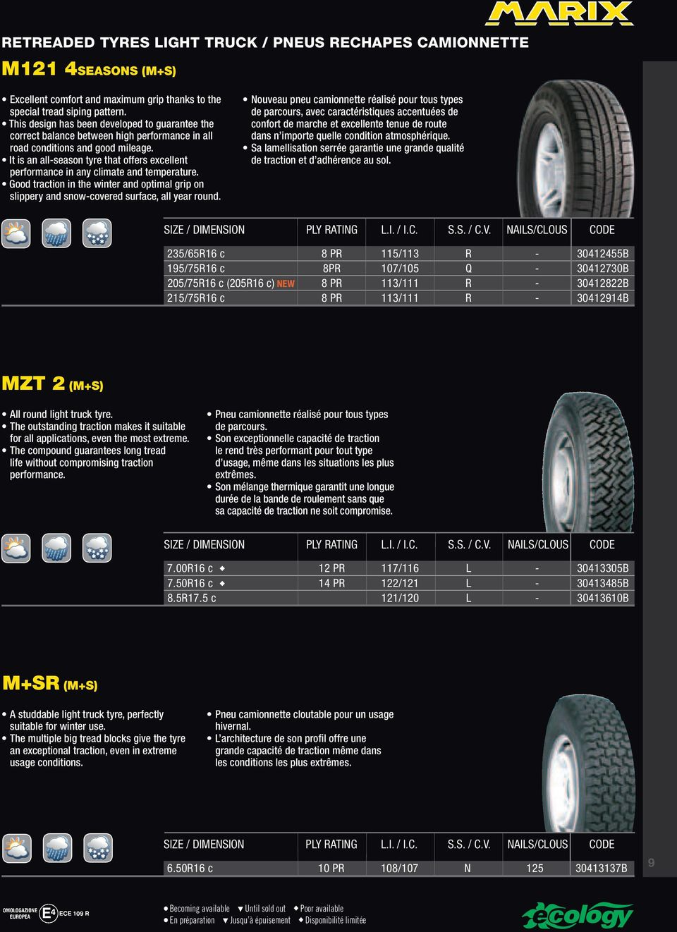 It is an all-season tyre that offers excellent performance in any climate and temperature. Good traction in the winter and optimal grip on slippery and snow-covered surface, all year round.