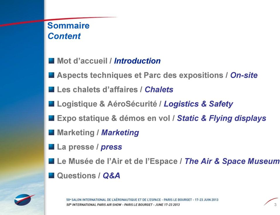 Logistics & Safety Expo statique & démos en vol / Static & Flying displays Marketing /