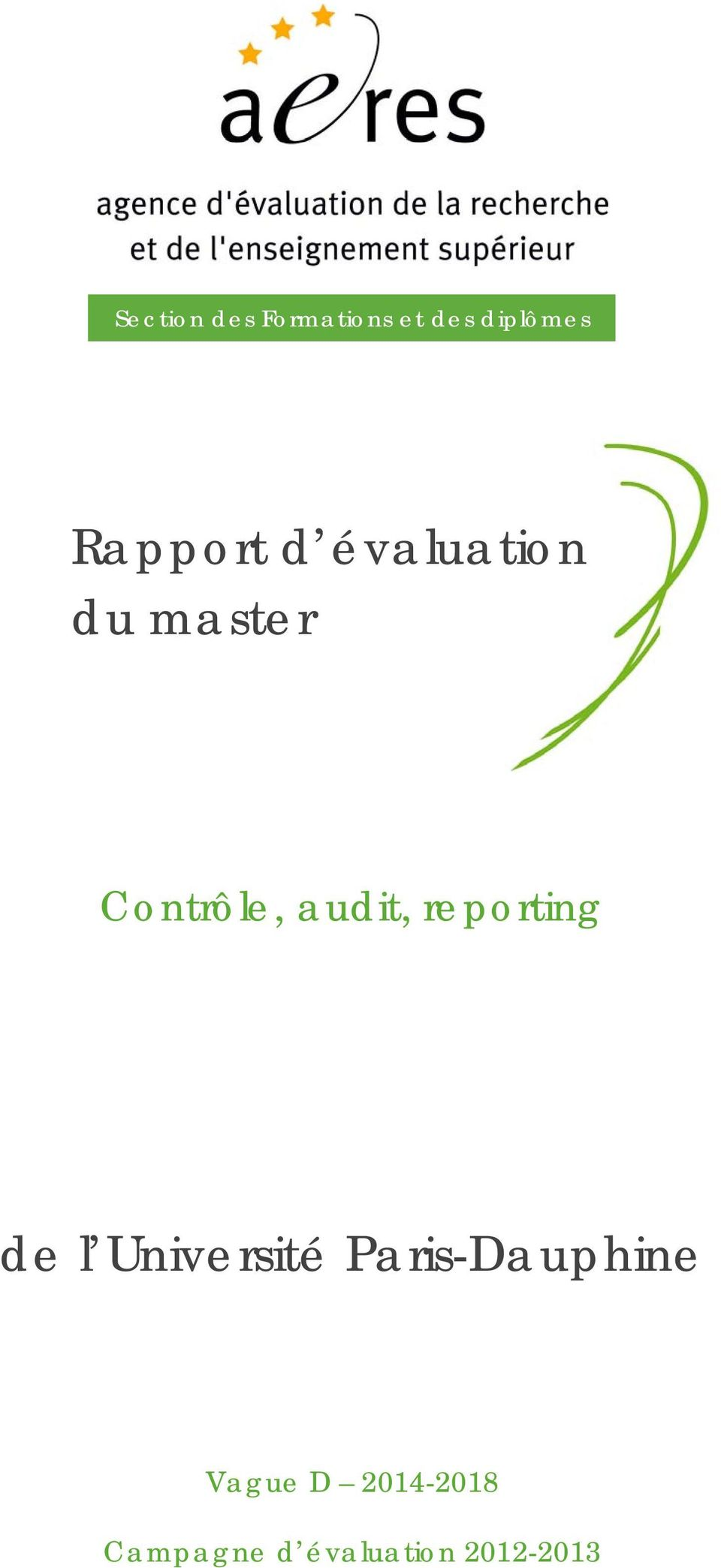 audit, reporting de l Université