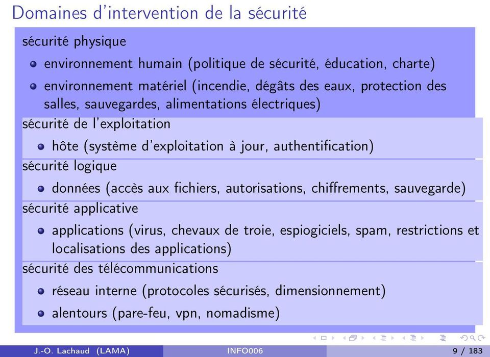 (accès aux fichiers, autorisations, chiffrements, sauvegarde) sécurité applicative applications (virus, chevaux de troie, espiogiciels, spam, restrictions et localisations