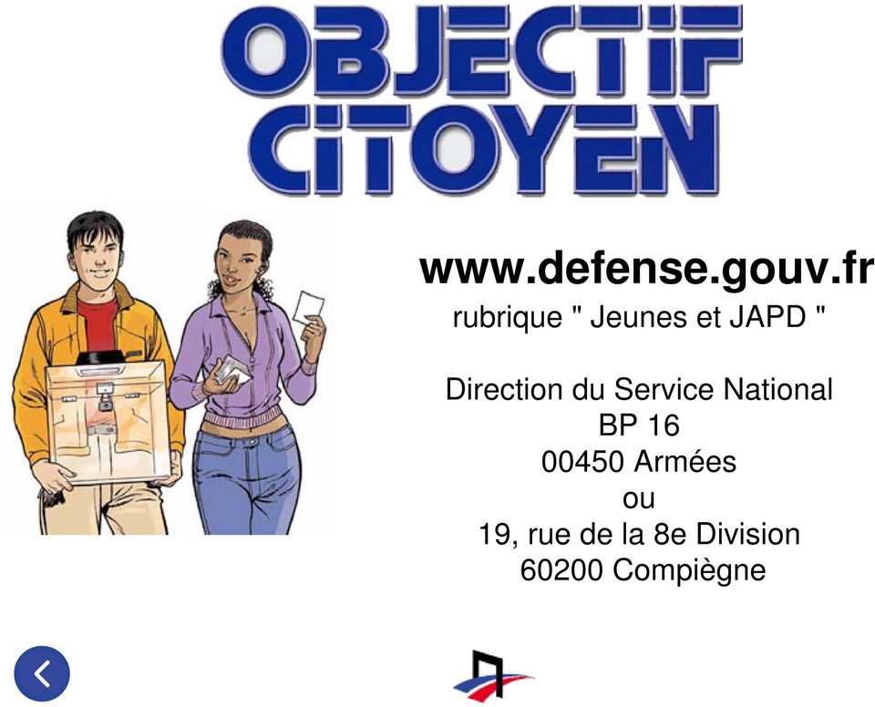 Direction du Service National BP 16