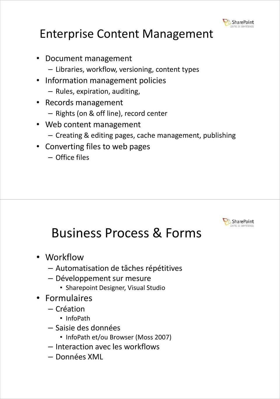 Converting files to web pages Office files Business Process & Forms Workflow Automatisation de tâches répétitives Développement sur mesure