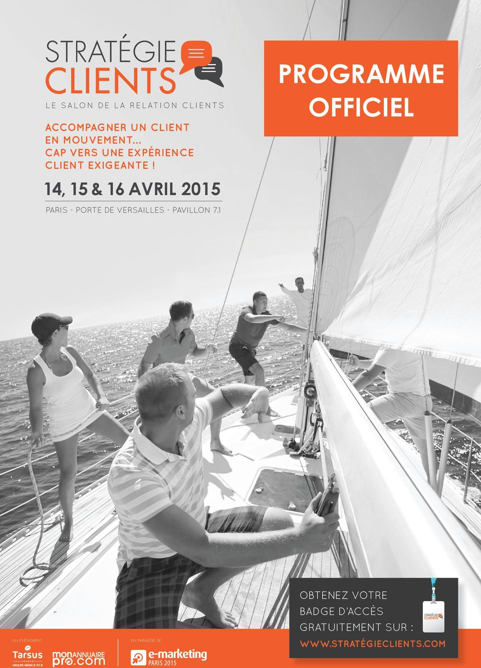 PROGRAMME OFFICIEL 14, 15 & 16 AVRIL 2015 PARIS - PORTE DE VERSAILLES -