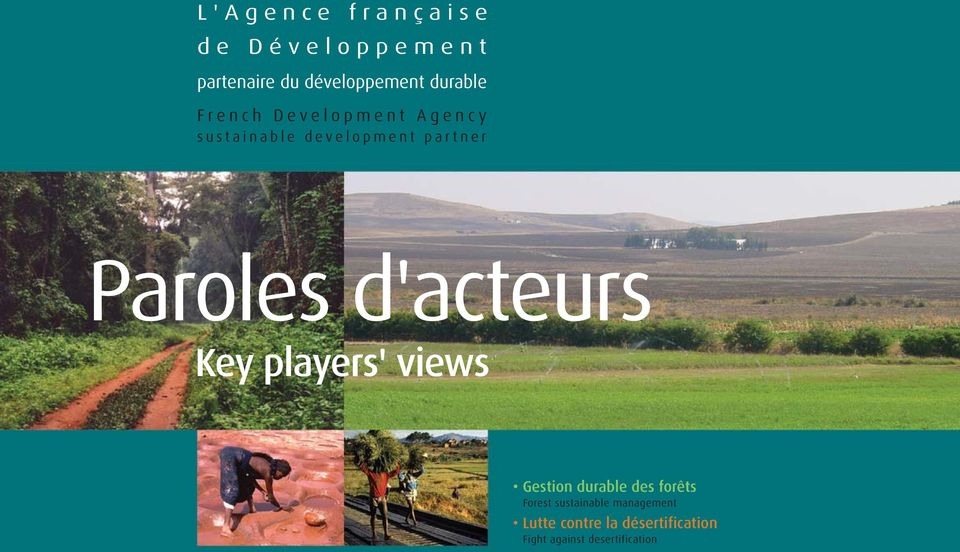 d'acteurs Key players' views Gestion durable des forêts Forest