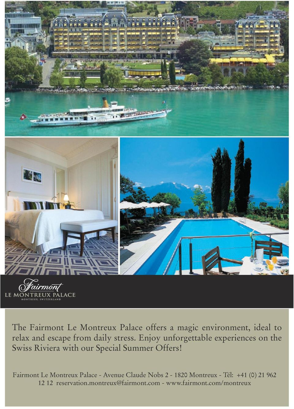 Enjoy unforgettable experiences on the Swiss Riviera with our Special Summer Offers!