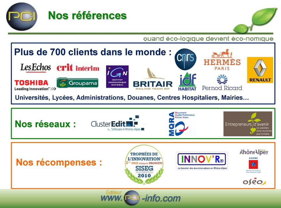 Administrations, Douanes, Centres