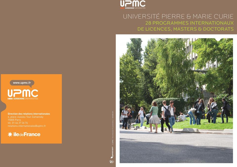 fr Direction des relations internationales 4, place Jussieu Tour