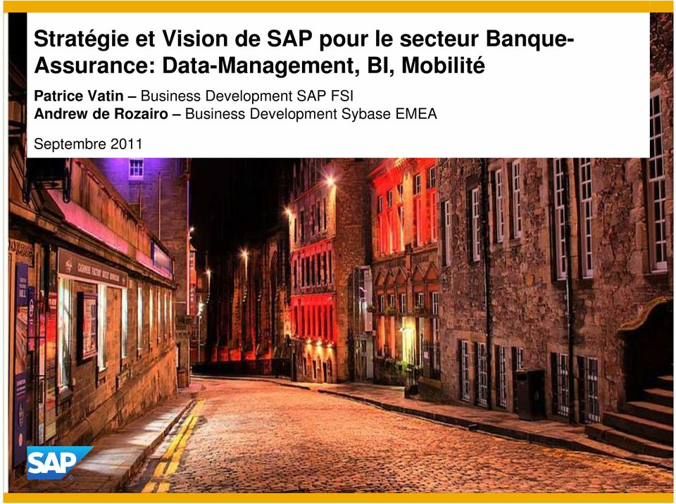 Patrice Vatin Business Development SAP FSI Andrew