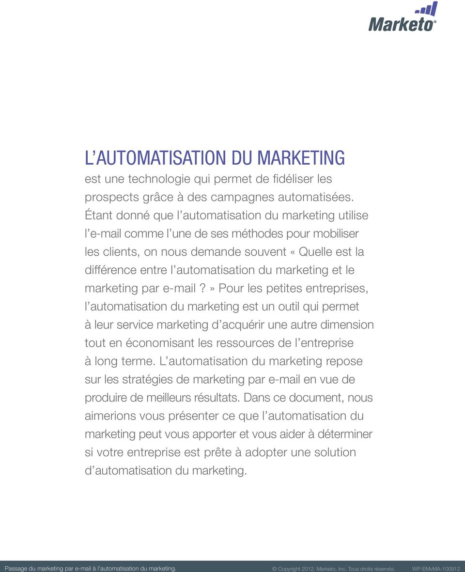 marketing et le marketing par e-mail?