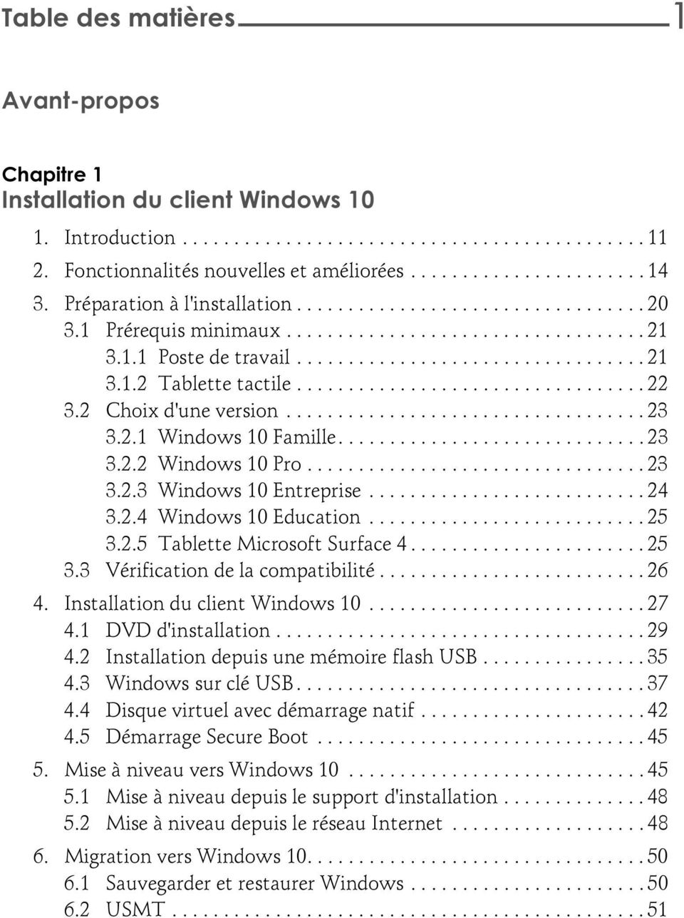 ................................. 22 3.2 Choix d'une version................................... 23 3.2.1 Windows 10 Famille.............................. 23 3.2.2 Windows 10 Pro................................. 23 3.2.3 Windows 10 Entreprise.