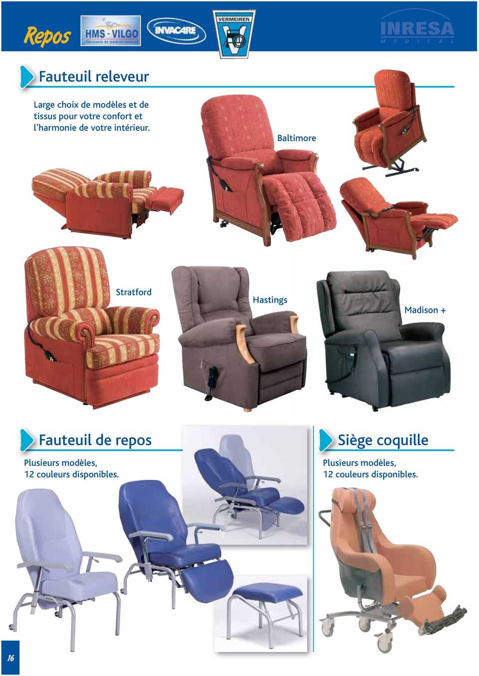 Baltimore Stratford Hastings Madison + Fauteuil de repos Plusieurs