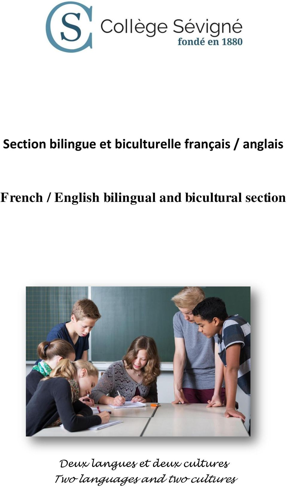 bilingual and bicultural section Deux