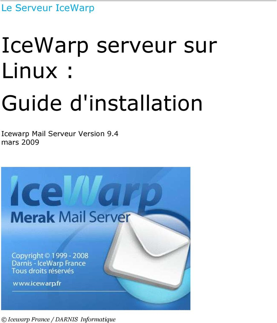 Icewarp Mail Serveur Version 9.