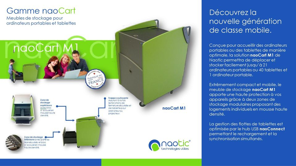 ordinateurs portables ou 40 tablettes et 1 ordinateur portable.